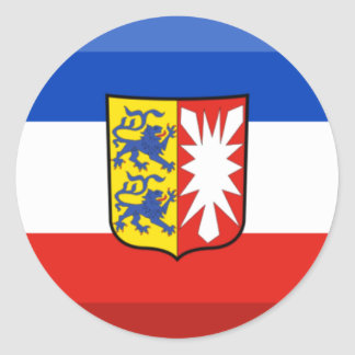 Schleswig-Holstein Flag Gem Round Stickers