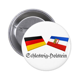 Schleswig-Holstein, Germany Flag Tiles Pinback Buttons