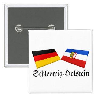 Schleswig-Holstein, Germany Flag Tiles Pinback Button