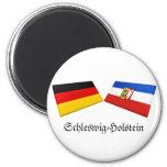 Schleswig-Holstein, Germany Flag Tiles Fridge Magnets