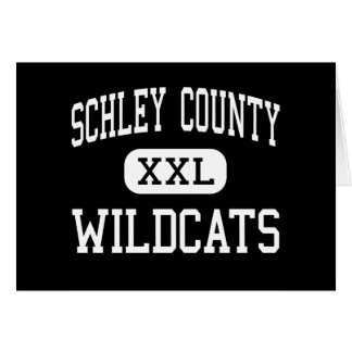 Schley County - Wildcats - High - Ellaville Greeting Cards
