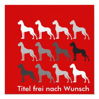 "Schlichte Doggen Invitación 5.25"" X 5.25"""