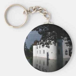 Schloss Bottmingen, Basel, Switzerland Basic Round Button Keychain