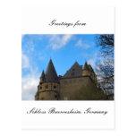 Schloss Buerresheim, castillo Buerresheim Tarjeta Postal