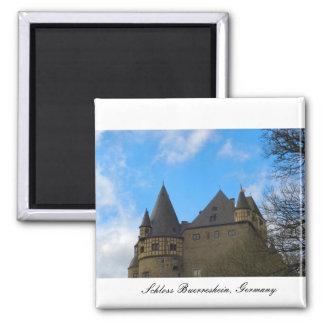 Schloss Buerresheim, Castle Buerresheim 2 Inch Square Magnet