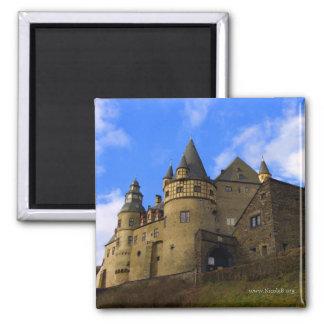 Schloss Buerresheim 2 Inch Square Magnet