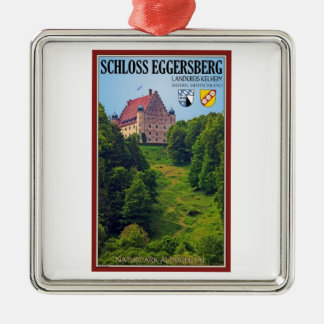 Schloß Eggersberg Adorno Navideño Cuadrado De Metal