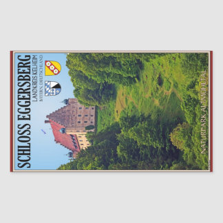 Schloß Eggersberg Pegatina Rectangular