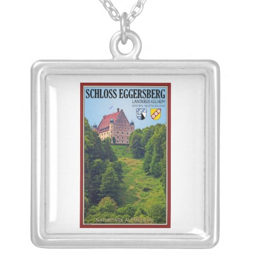 Schloß Eggersberg Square Pendant Necklace