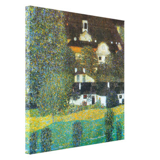 Schloss Kammer on the Attersee II By Gustav Klimt Canvas Print