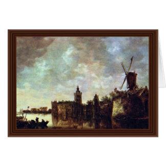 Schloß Montfort By Goyen Jan Van (Best Quality) Greeting Card