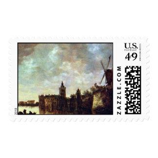 Schloß Montfort By Goyen Jan Van (Best Quality) Stamp