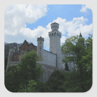 Schloss Neuschwanstein Castle Square Sticker