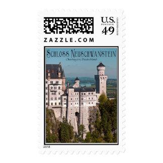 Schloss Neuschwanstein from Marienbrücke - German Stamps