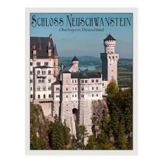 Schloss Neuschwanstein from Marienbrücke - German Postcard