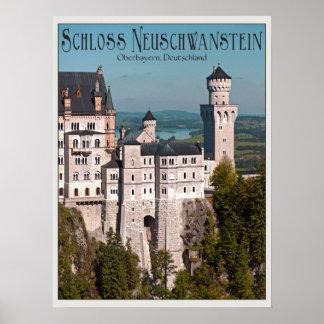 Schloss Neuschwanstein from Marienbrücke - German Print