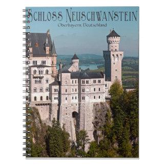 Schloss Neuschwanstein from Marienbrücke - German Spiral Note Books