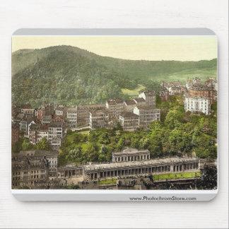 Schlossberg, rar de Carlsbad, Bohemia, Austro-Hung Tapetes De Raton