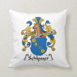 Schlosser Family Crest Throw Pillow