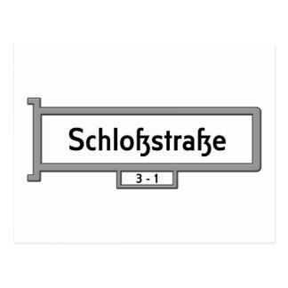 Schlosstrasse, Berlin Street Sign Postcard
