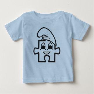 Schlumpfipuzzle Babyshirt Poleras