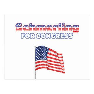 Schmerling for Congress Patriotic American Flag De Postcard