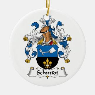 Schmidt Family Crest Christmas Tree Ornament