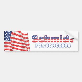 Schmidt for Congress Patriotic American Flag Car Bumper Sticker