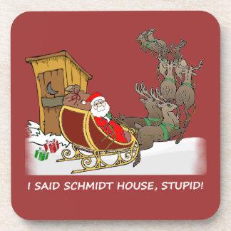 Schmidt House Funny Christmas Cork Coaster