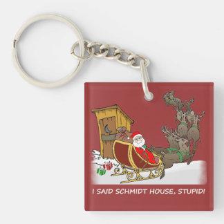 Schmidt House Funny Christmas Keychain