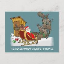 Schmidt House Funny Christmas Postcard