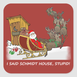 Schmidt House Funny Christmas Sticker