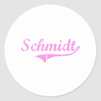 Schmidt Last Name Classic Style Stickers