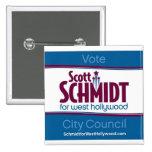 Schmidt para el botón cuadrado del oeste de Hollyw Pins