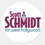 Schmidt para los pegatinas del oeste del logotipo etiqueta redonda