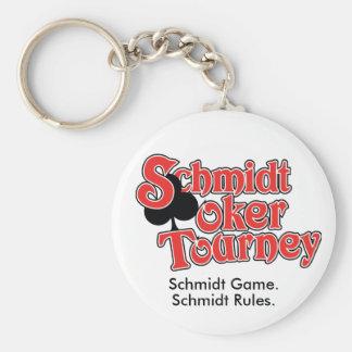 Schmidt Poker Tourney Basic Round Button Keychain