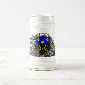 Schmidt (Saar-Rhine) Family Arms Beer Stein