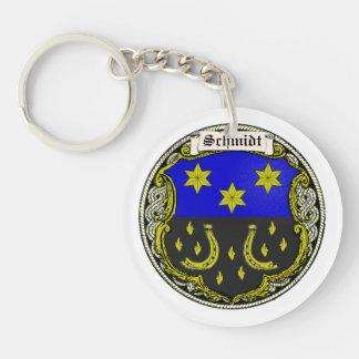 Schmidt (Saar-Rhine) Family Arms Single-Sided Round Acrylic Keychain