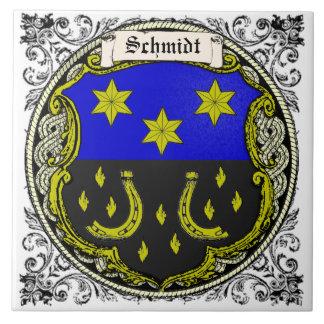 Schmidt (Saar-Rhine) Family Arms Tile