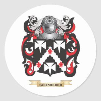 Schmieder Coat of Arms (Family Crest) Classic Round Sticker