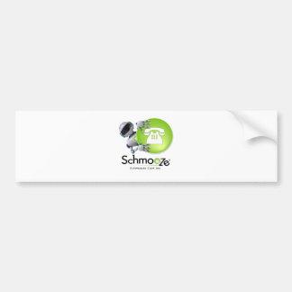 Schmooze Bot Peeking From Behind Logo Bumper Sticker