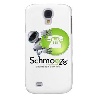 Schmooze Bot Peeking From Behind Logo Galaxy S4 Cover
