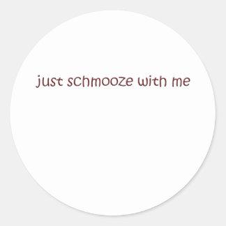 schmooze classic round sticker