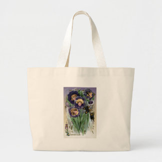Schmucker Easter Pansy Ladies Large Tote Bag