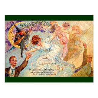 Schmucker: Golden Dance on Halloween Postcard