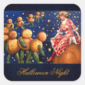 Schmucker: Noche de Halloween Calcomanía Cuadrada