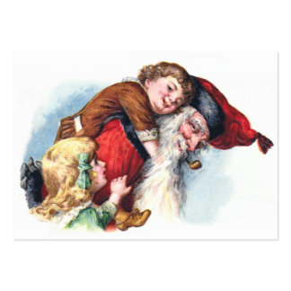 Schmucker: Santa Playing With Children Large Business Cards (Pack Of 100)