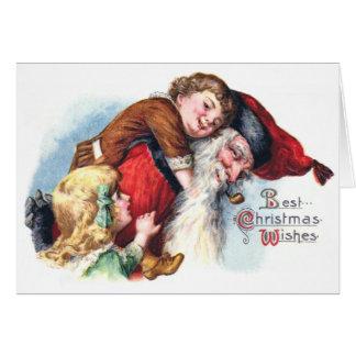 Schmucker: Santa Playing With Children Card