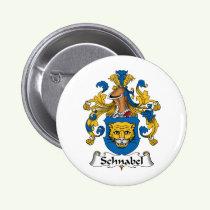 Schnabel Family Crest Button