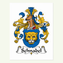 Schnabel Family Crest Postcard